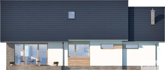 Zobacz powiększenie elewacji ogrodowej - projekt Royan VI