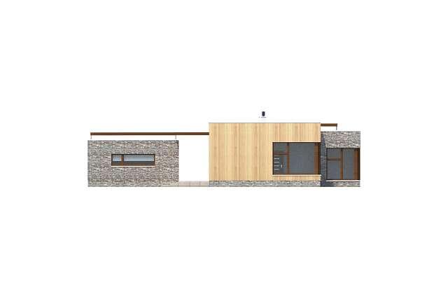 Zobacz powiększenie elewacji ogrodowej - projekt Villach