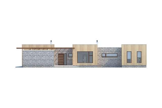 Zobacz powiększenie elewacji bocznej prawej - projekt Villach