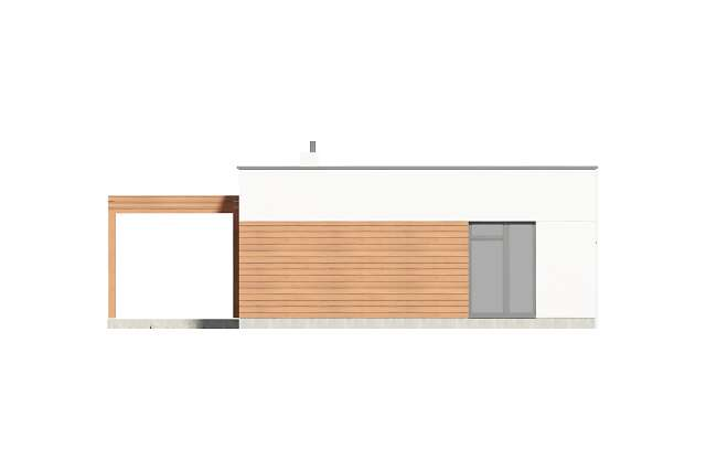 Zobacz powiększenie elewacji bocznej lewej - projekt Ribeira