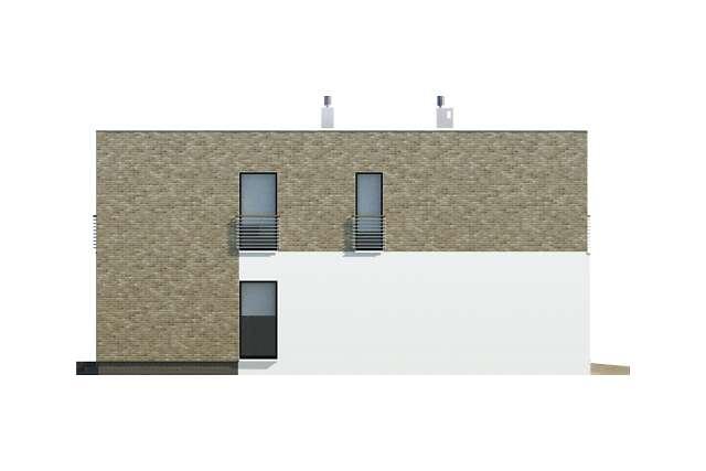 Zobacz powiększenie elewacji bocznej lewej - projekt Cork II