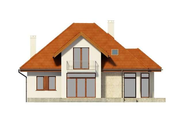 Zobacz powiększenie elewacji ogrodowej - projekt Dijon IV