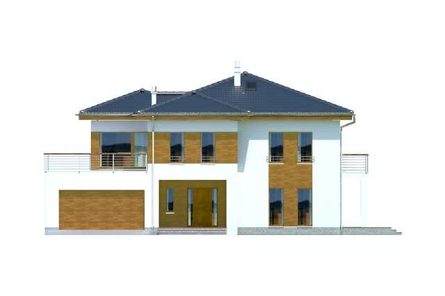 Zobacz powiększenie elewacji frontowej - projekt Brisbane