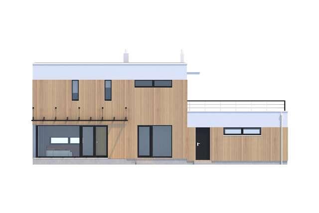 Zobacz powiększenie elewacji ogrodowej - projekt Belfast VI
