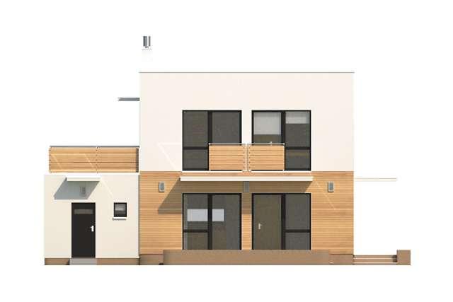 Zobacz powiększenie elewacji ogrodowej - projekt Edynburg