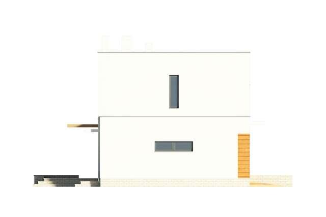 Zobacz powiększenie elewacji bocznej lewej - projekt Edynburg II