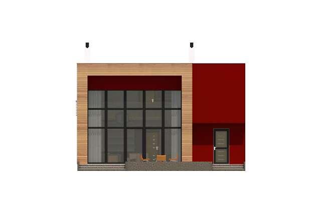 Zobacz powiększenie elewacji ogrodowej - projekt Delft II