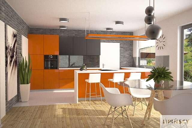 Zobacz powiększenie wizualizacji wnętrza - projekt Modena