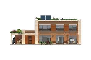 Elewacja ogrodowa - projekt Santos