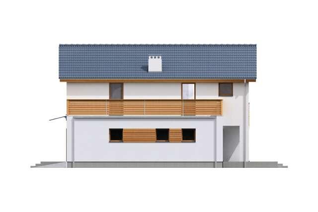 Zobacz powiększenie elewacji bocznej lewej - projekt Sendai