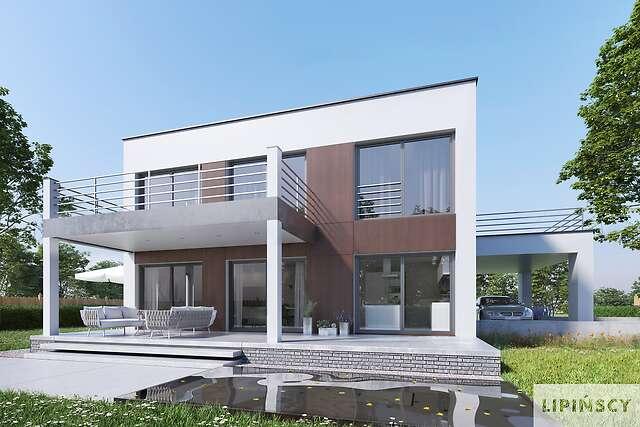 Zobacz powiększenie wizualizacji ogrodowej - projekt Carrara V