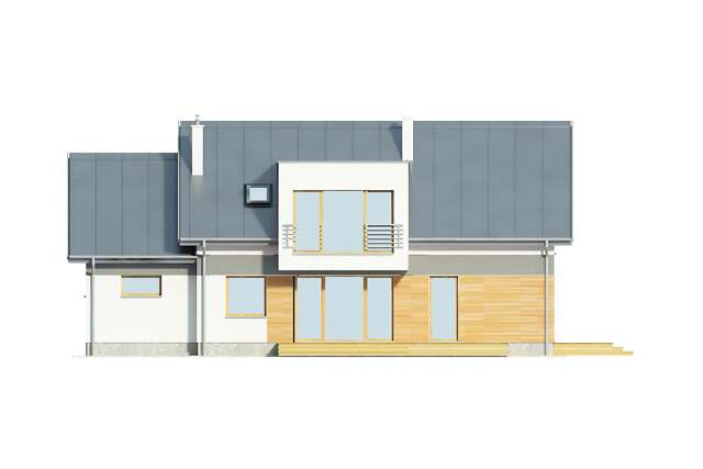 Zobacz powiększenie elewacji ogrodowej - projekt Triest