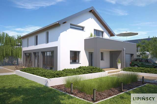 Zobacz powiększenie wizualizacji frontowej - projekt Bergamo III