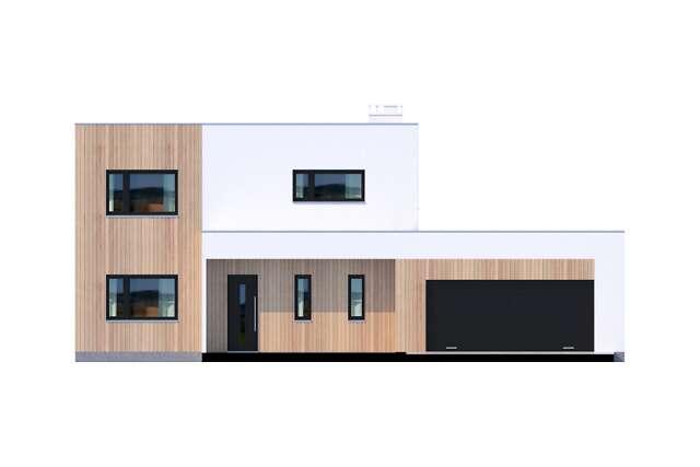 Zobacz powiększenie elewacji frontowej - projekt Grenoble