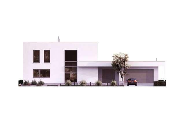 Zobacz powiększenie elewacji frontowej - projekt Tarrafal