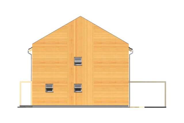 Zobacz powiększenie elewacji bocznej prawej - projekt Koge II
