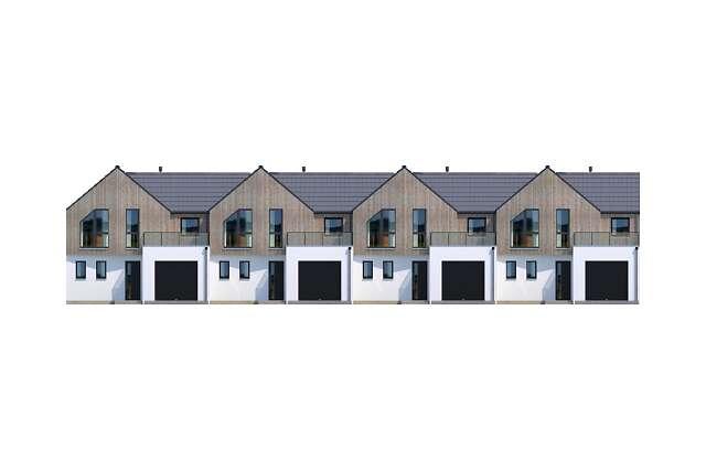 Zobacz powiększenie elewacji frontowej - projekt Tilburg