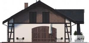 Elewacja boczna lewa - projekt Budynek usługowy Orzeł II