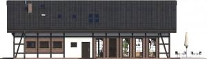 Elewacja ogrodowa - projekt Budynek usługowy Orzeł II