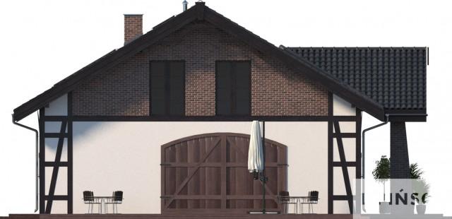 Zobacz powiększenie elewacji bocznej lewej - projekt Budynek usługowy Orzeł II