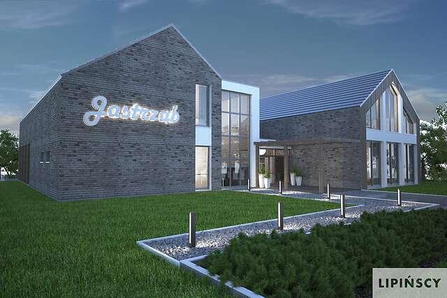 Zobacz powiększenie wizualizacji frontowejdetalu - projekt Budynek usługowy Jastrząb