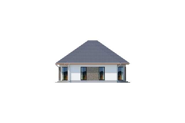 Zobacz powiększenie elewacji bocznej prawej - projekt Budynek usługowy Office 1