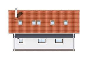 Elewacja ogrodowa - projekt Garaż