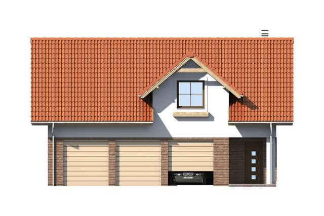 Zobacz powiększenie elewacji frontowej - projekt Garaż