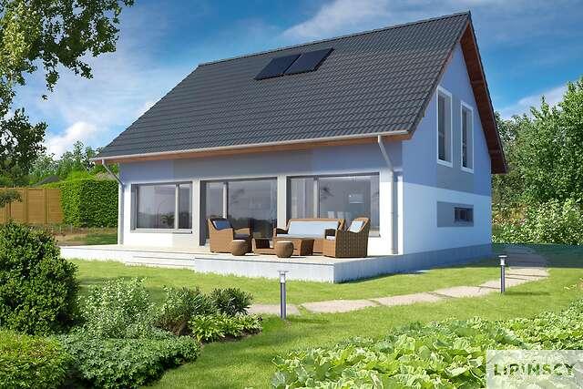 Zobacz powiększenie wizualizacji ogrodowej - projekt Darmstadt Pasywny 2