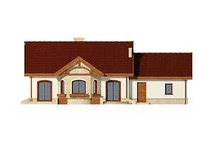 Elewacja ogrodowa - projekt Sofia III