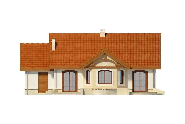 Zobacz powiększenie elewacji ogrodowej - projekt Sofia IV