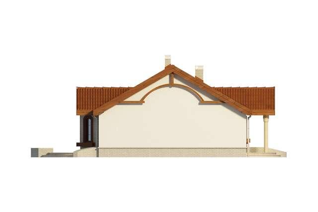 Zobacz powiększenie elewacji bocznej lewej - projekt Sintra