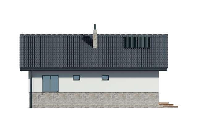 Zobacz powiększenie elewacji bocznej lewej - projekt Lucca VIII