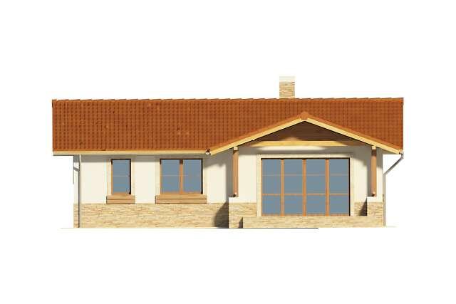 Zobacz powiększenie elewacji ogrodowej - projekt Asti