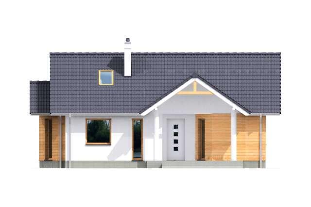 Zobacz powiększenie elewacji frontowej - projekt Bolton