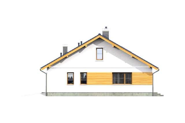 Zobacz powiększenie elewacji bocznej prawej - projekt Aosta