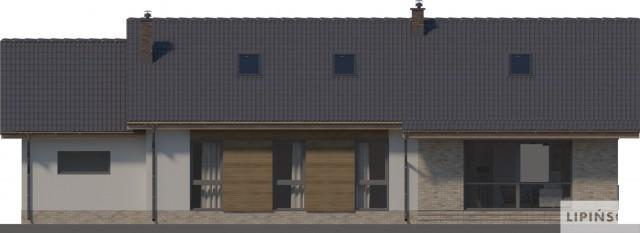 Zobacz powiększenie elewacji ogrodowej - projekt Arosa III