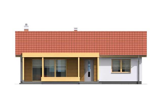 Zobacz powiększenie elewacji frontowej - projekt Itaka II
