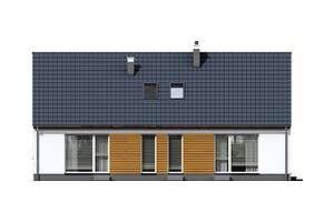 Elewacja ogrodowa - projekt Ostenda