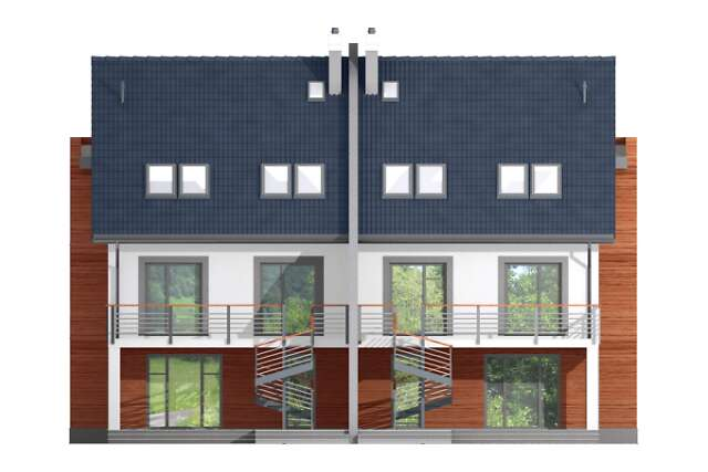 Zobacz powiększenie elewacji ogrodowej - projekt Przez ścianę