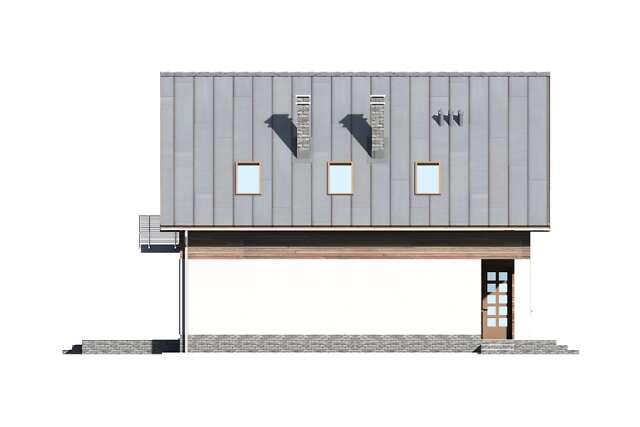 Zobacz powiększenie elewacji bocznej lewej - projekt Malmo