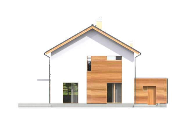 Zobacz powiększenie elewacji ogrodowej - projekt Pewny