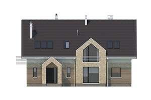 Elewacja frontowa - projekt Budynek agroturystyczny Dąb 2