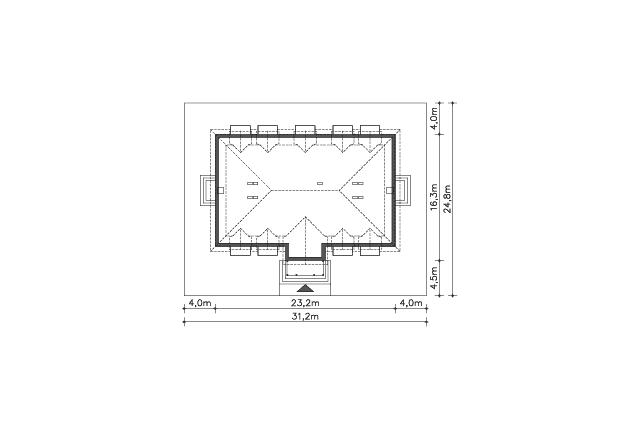 Zobacz powiększenie działki - projekt Budynek wypoczynkowy Ambrowiec