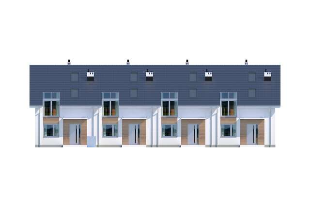 Zobacz powiększenie elewacji frontowej - projekt Clermont