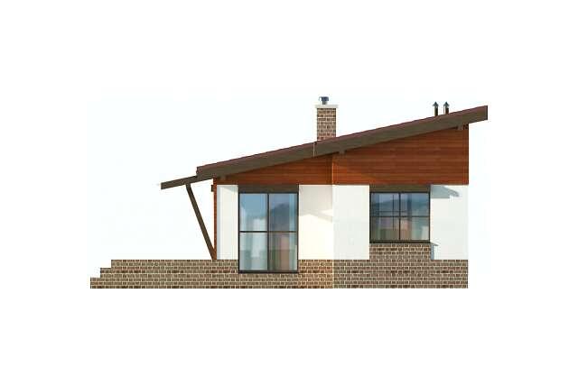 Zobacz powiększenie elewacji ogrodowej - projekt Bilbao
