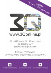 Zaproszenie na dni otwarte domu pokazowego 3Q