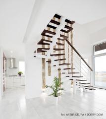 Nowoczesna realizacja wnętrz projektu domu Berlin