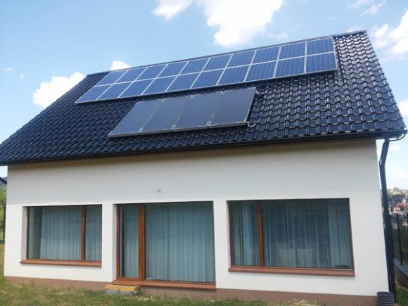 Dom z dotacją NF15 wg projektu Lipińscy Dom Pasywny 2