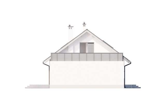 Zobacz powiększenie elewacji bocznej lewej - projekt Royan V